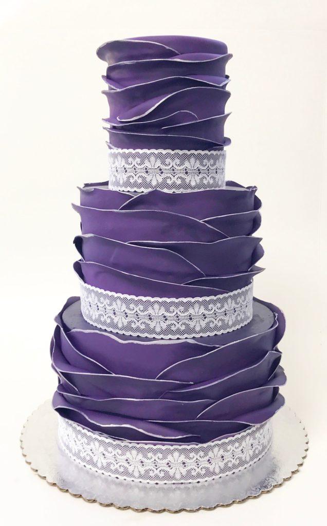 Custom Lace wedding cake in Idaho